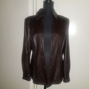 Firm Price🌻St. John Brown Leather Jacket - M
